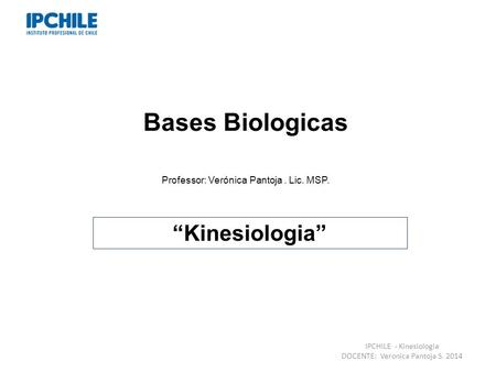"Bases Biologicas ""Kinesiologia"""