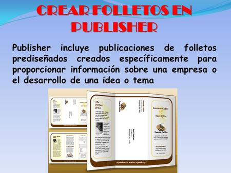 CREAR FOLLETOS EN PUBLISHER