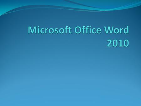 Microsoft Office Word 2010.