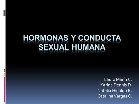 Hormonas y conducta sexual humana