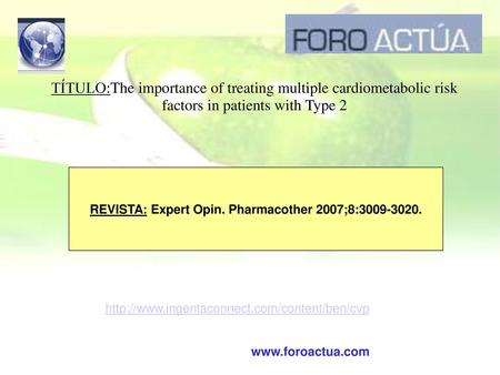 REVISTA: Expert Opin. Pharmacother 2007;8: