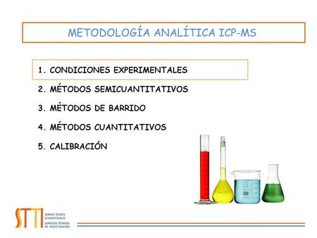 METODOLOGÍA ANALÍTICA ICP-MS