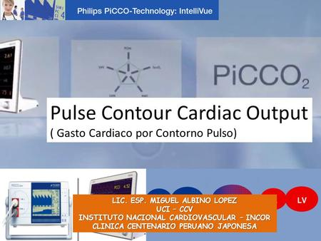 Pulse Contour Cardiac Output