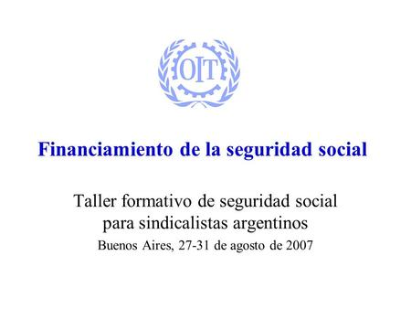 Financiamiento de la seguridad social