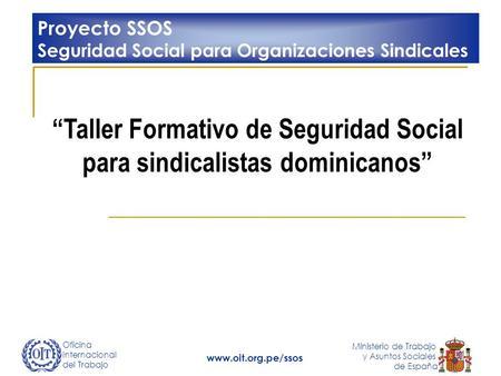 Oficina internacional del trabajo ministerio de trabajo y asuntos sociales de espa a seguridad - Oficina seguridad social granada ...