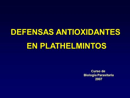 DEFENSAS ANTIOXIDANTES