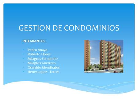 GESTION DE CONDOMINIOS