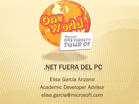 Elisa García Anzano Academic Developer Advisor