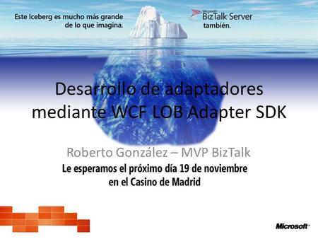 Desarrollo de adaptadores mediante WCF LOB Adapter SDK