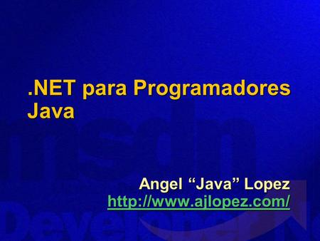 .NET para Programadores Java Angel Java Lopez