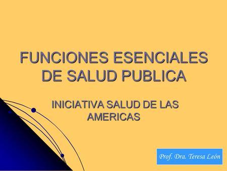 Funciones esenciales de la salud publica en colombia