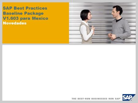 SAP Best Practices Baseline Package V1.603 para Mexico Novedades.