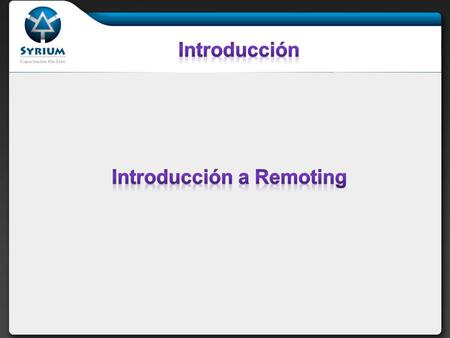 Introducción a Remoting