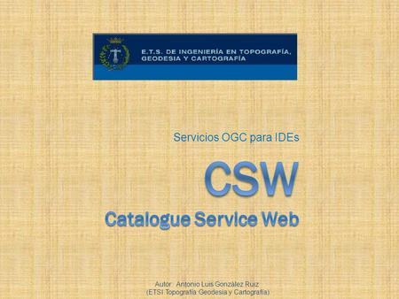 CSW Catalogue Service Web