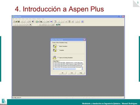 4. Introducción a Aspen Plus