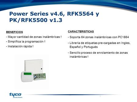 Power Series v4.6, RFK5564 y PK/RFK5500 v1.3