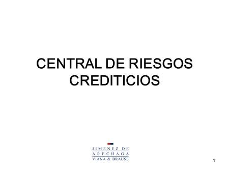 CENTRAL DE RIESGOS CREDITICIOS