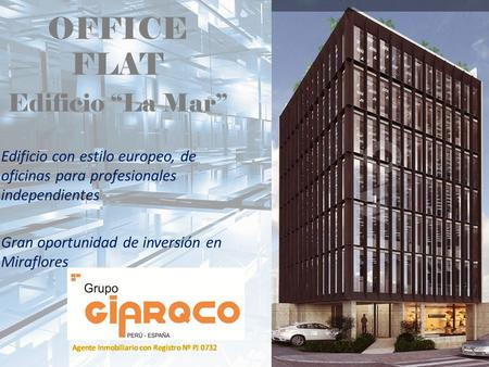"OFFICE FLAT Edificio ""La Mar"""