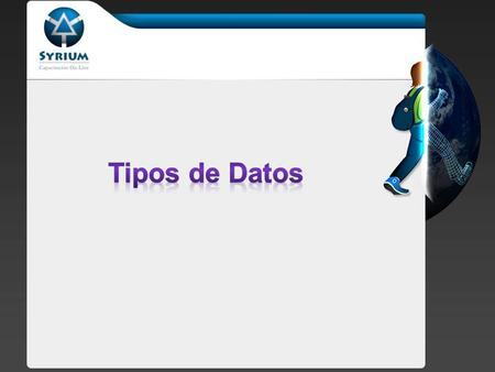 PHP soporta 8 tipos de datos primitivos: Ecalares: boolean, integer, double, string Compuestos: array, object Especiales: resource, NULL En PHP, no es.