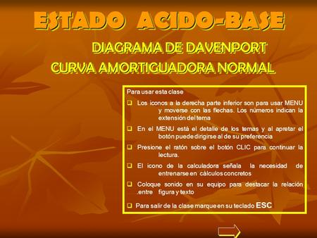 ESTADO ACIDO-BASE DIAGRAMA DE DAVENPORT CURVA AMORTIGUADORA NORMAL