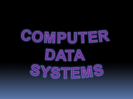 COMPUTER DATA SYSTEMS.