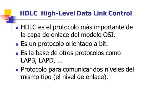 HDLC High-Level Data Link Control