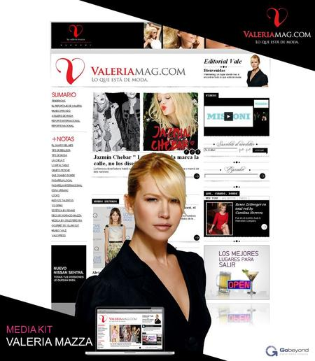 ………………………………………………………………………………………………………………………………………………………….. www.valeriamag.com MEDIA KIT VALERIA MAZZA.