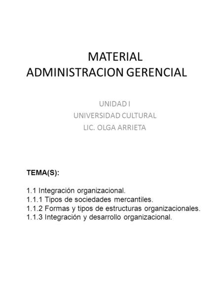 MATERIAL ADMINISTRACION GERENCIAL