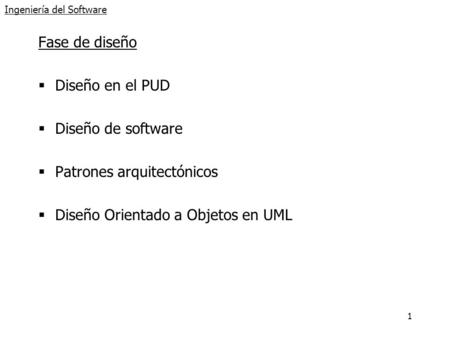 Ingeniería del Software