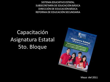 Capacitación Asignatura Estatal 5to. Bloque