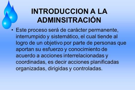 INTRODUCCION A LA ADMINSITRACIÓN