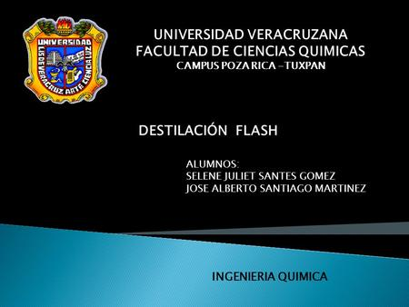 UNIVERSIDAD VERACRUZANA FACULTAD DE CIENCIAS QUIMICAS