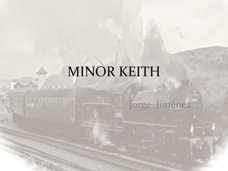 MINOR KEITH Jorge Jiménez.