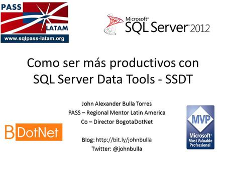 Como ser más productivos con SQL Server Data Tools - SSDT
