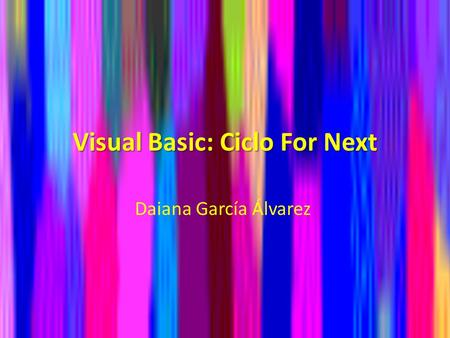 Visual Basic: Ciclo For Next