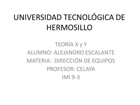 UNIVERSIDAD TECNOLÓGICA DE HERMOSILLO