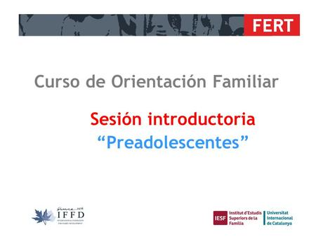 Curso de Orientación Familiar