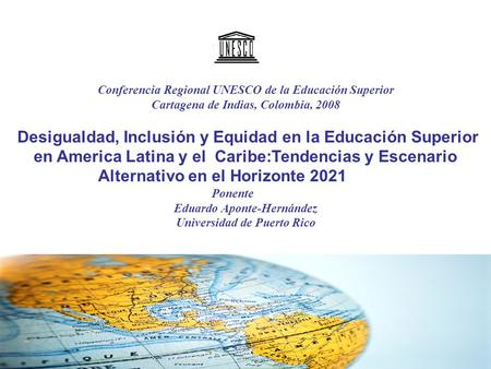 Conferencia Regional UNESCO de la Educación Superior