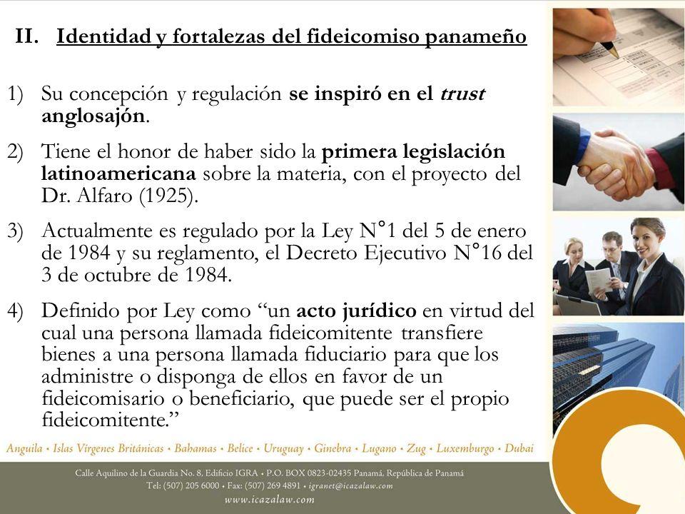 5)No tiene personería jurídica, pero la Ley le reconoce autonomía al patrimonio fideicomitido.
