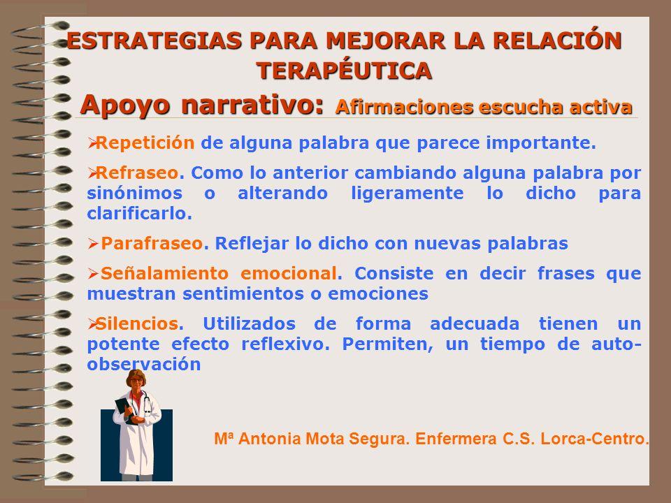 Mª Antonia Mota Segura.Enfermera C.S. Lorca-Centro.