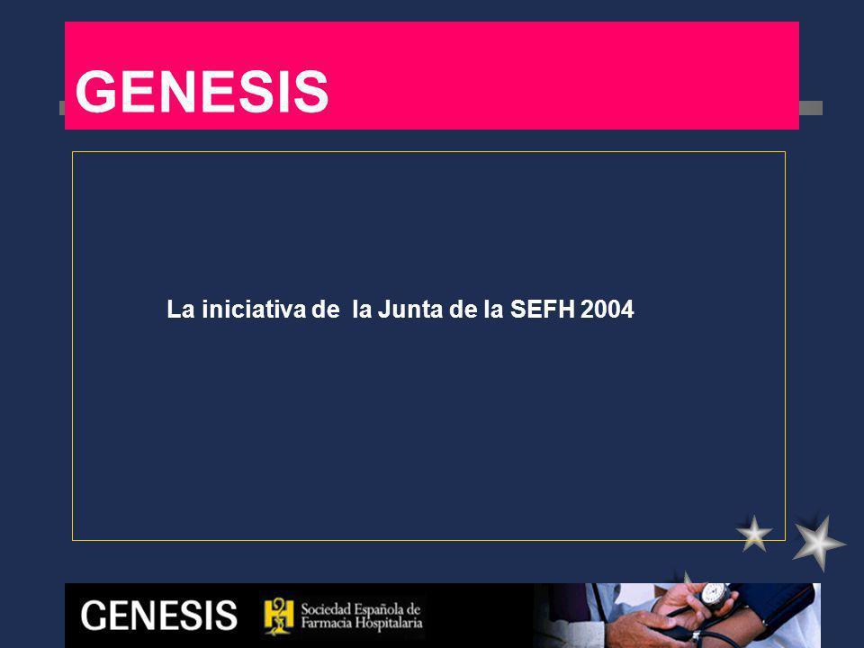GENESIS Grupo coordinador inicial: 12 hospitales Constituido en la reunión del 7 de Abril 2005, presentación en Congreso de Oviedo de la SEFH septiembre 2005 - Joan Altimiras.