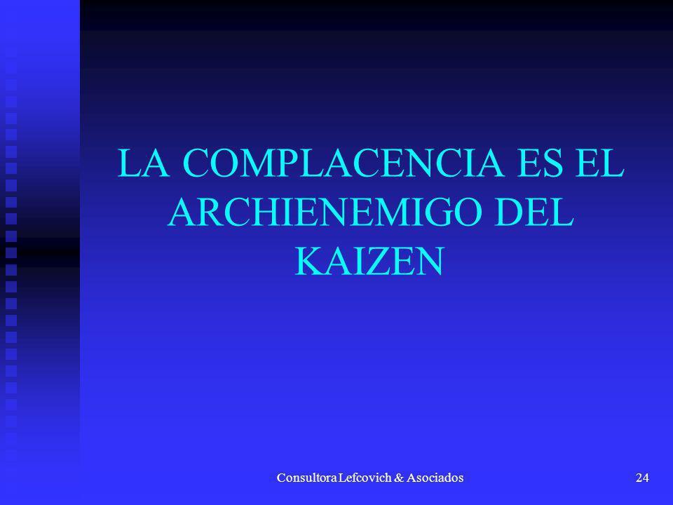 Consultora Lefcovich & Asociados25 El Kaizen enfatiza en el reconocimiento del problema y proporciona pistas para la identificación de los mismos.