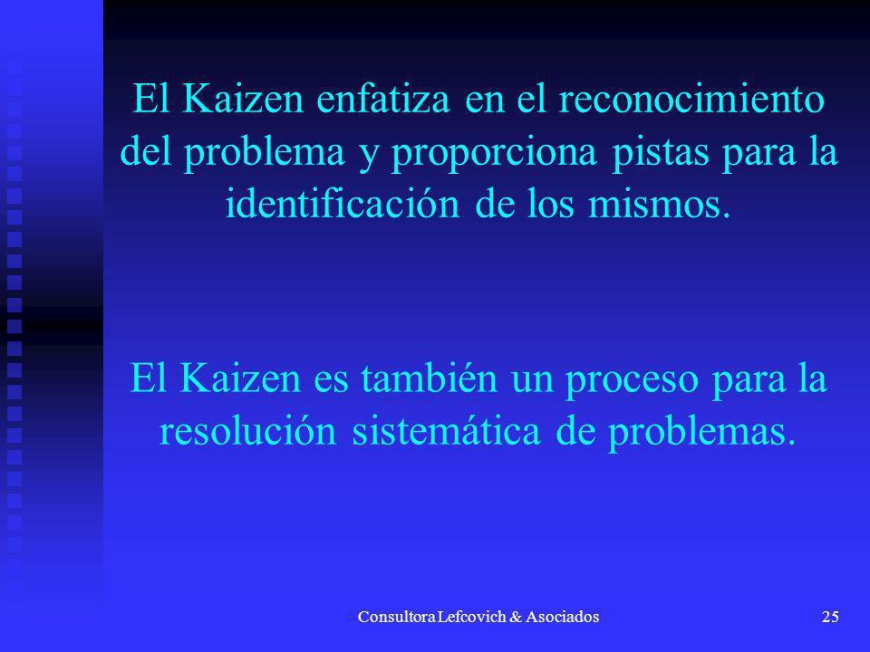 Consultora Lefcovich & Asociados26 EL MEJORAMIENTO ALCANZA NUEVAS ALTURAS CON CADA PROBLEMA QUE SE RESUELVE