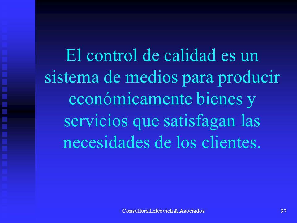 Consultora Lefcovich & Asociados38 El CTC es un sistema elaborado para la resolución de los problemas de la compañía y el mejoramiento de las actividades