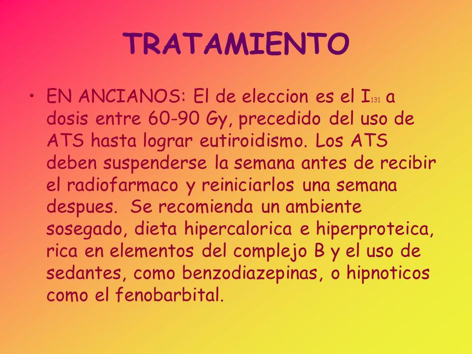TRATAMIENTO TORMENTA TIROIDEA: Los objetivos de Tto.