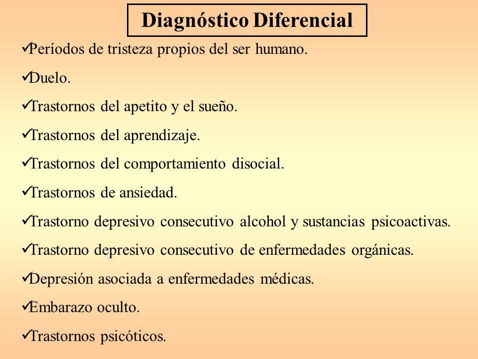 Diagnóstico Diferencial Períodos de tristeza propios del ser humano.