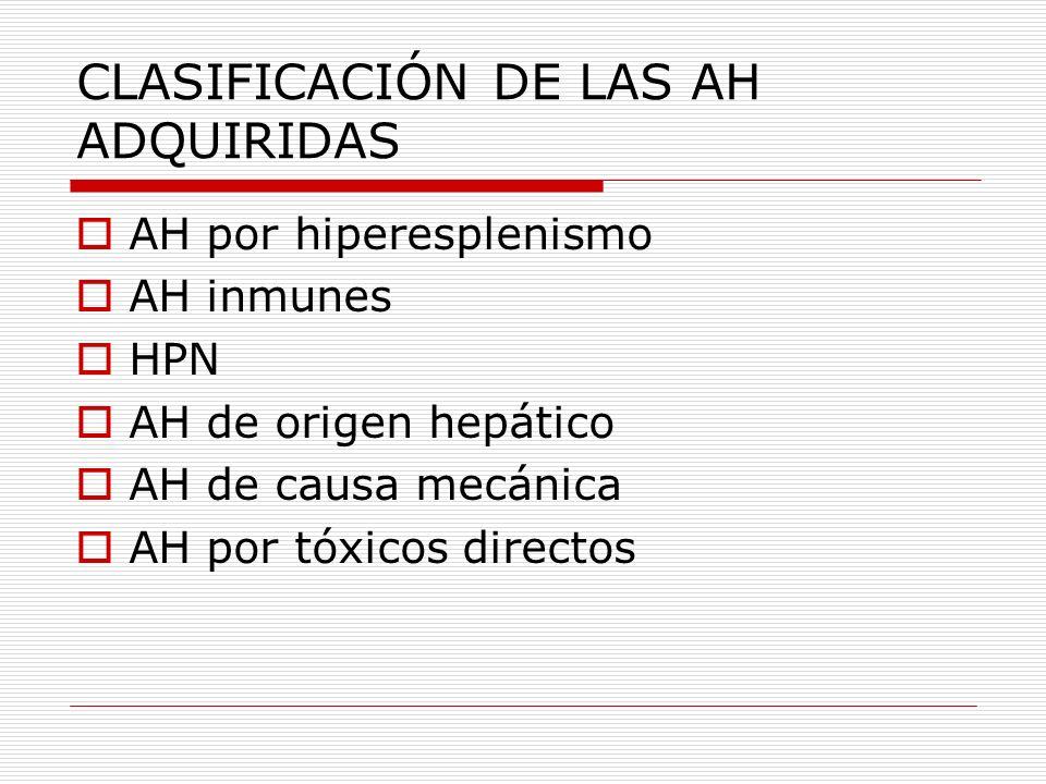 Hiperesplenismo Hepatopatias crónicas SMP Linfomas Enfermedades por almacenamiento