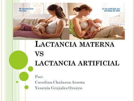 Lactancia materna vs lactancia artificial