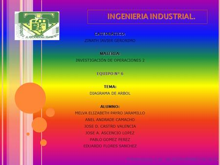 INGENIERIA INDUSTRIAL.