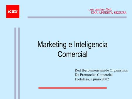 Marketing e Inteligencia Comercial